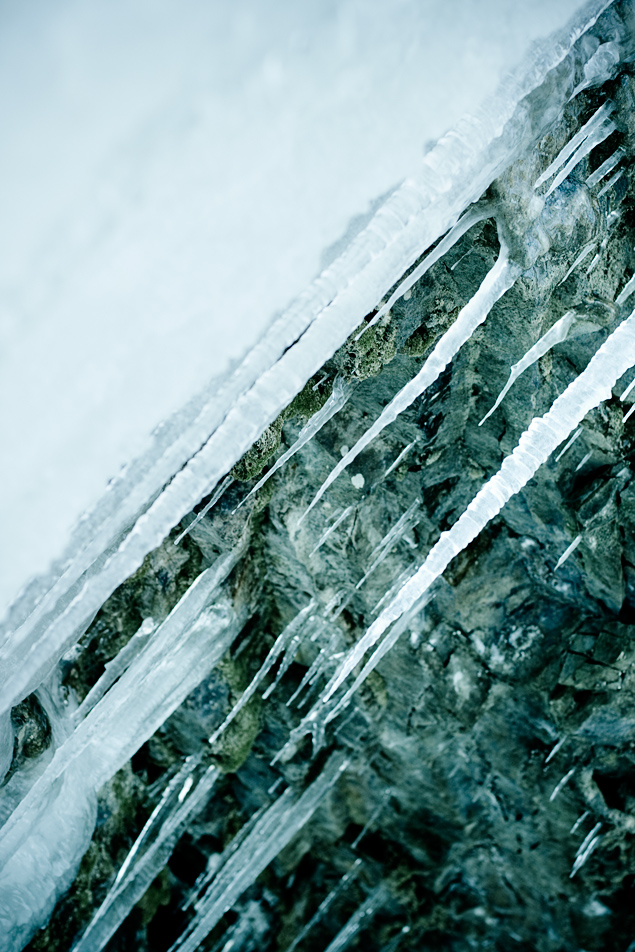 cool blue icicles