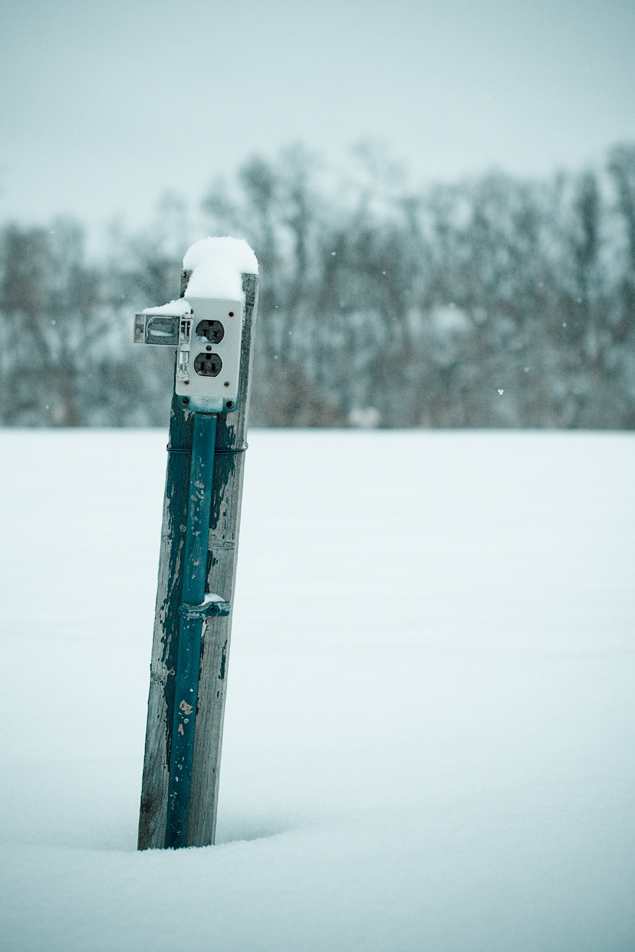 snowy outlet