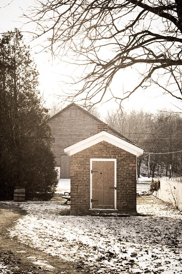a brick shed