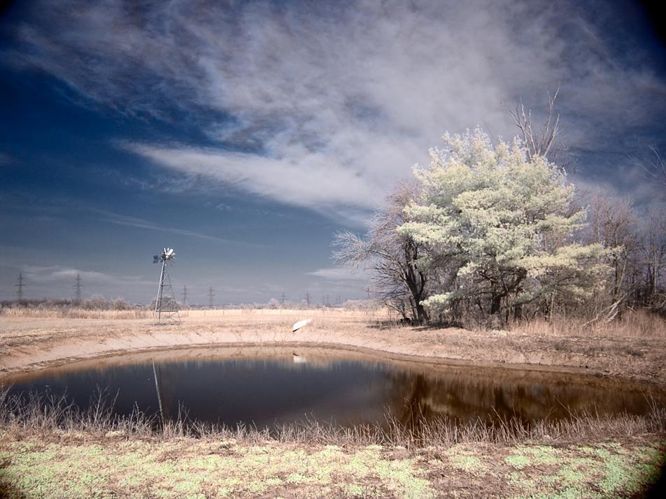 color infrared: pond